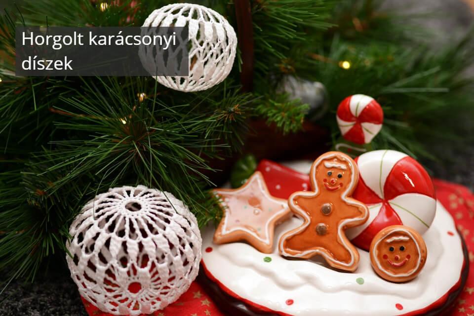 Horgolt karácsonyi díszek