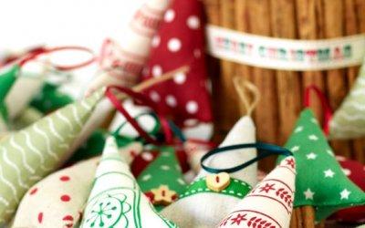 Egyszerű karácsonyi díszek