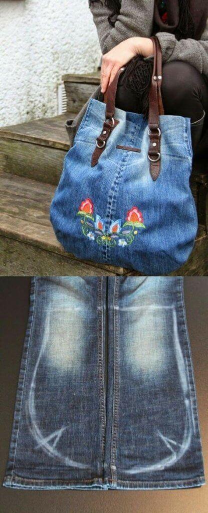 01f6768e5e4c Farmer szárait is fel tudjuk használni a táskához. Hímzéssel is  díszíthetjük.
