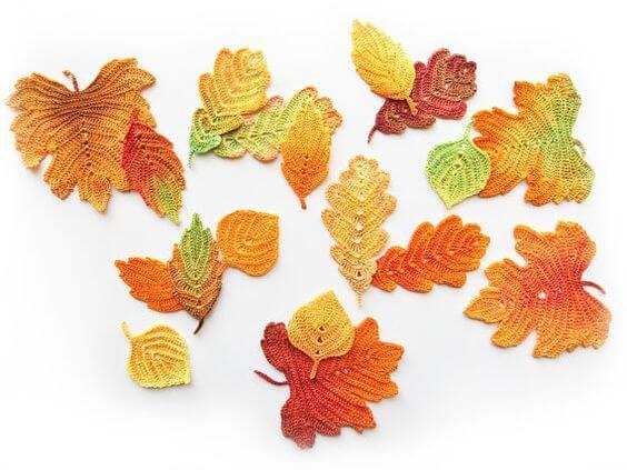Horgolt levél minta – Itt van az ősz, itt van újra
