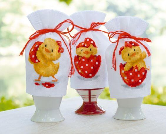 Húsvéti dekoráció házilag-tyúkok, kakasok