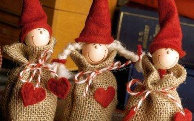 Jutából karácsonyi dekoráció