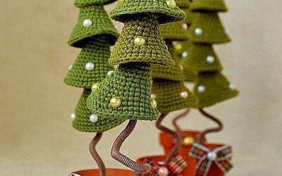 Horgolt karácsonyfa