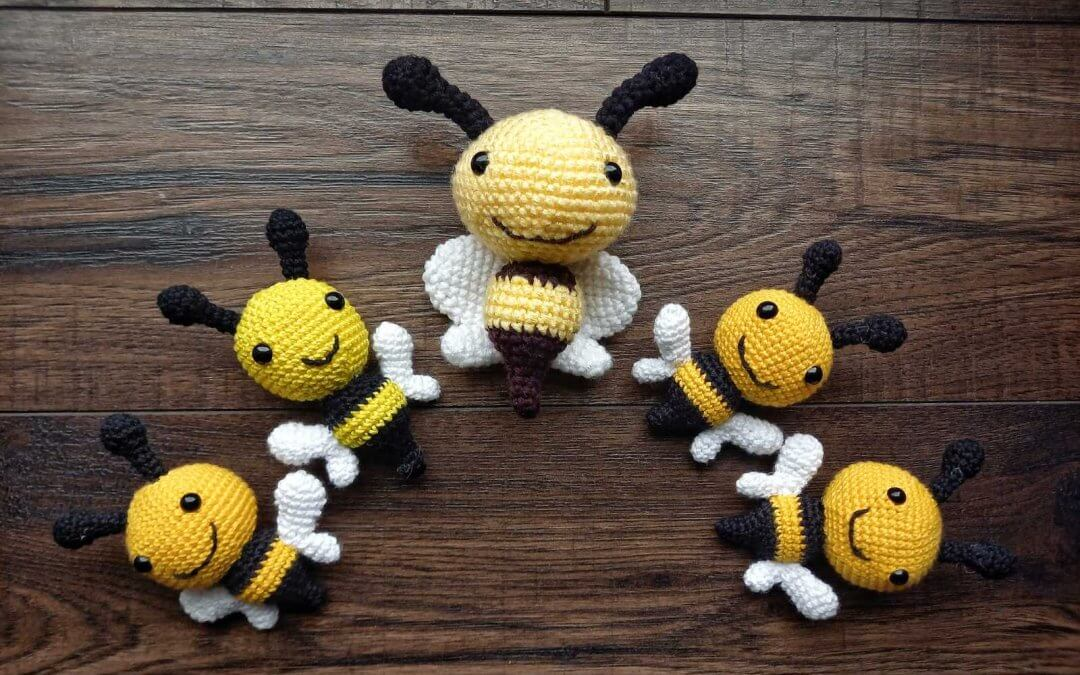 Horgolt méhecske